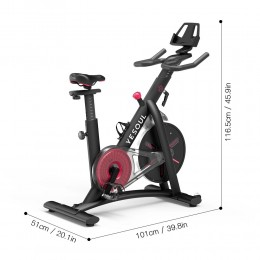 Yesoul S3 Spinning Cycling Bike-Belt Drive Indoor Magnetic...